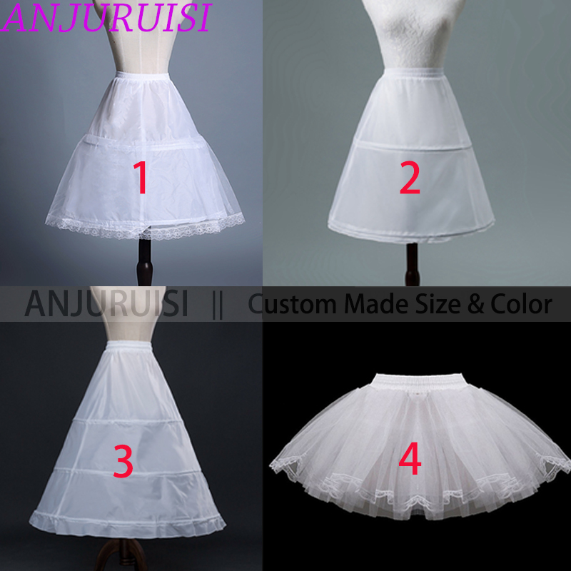ANJURUISI 2020 Petticoat Children Short Petticoats Flower Girl Dress Crinoline For Wedding Little Girls/Kids/Child Underskirt