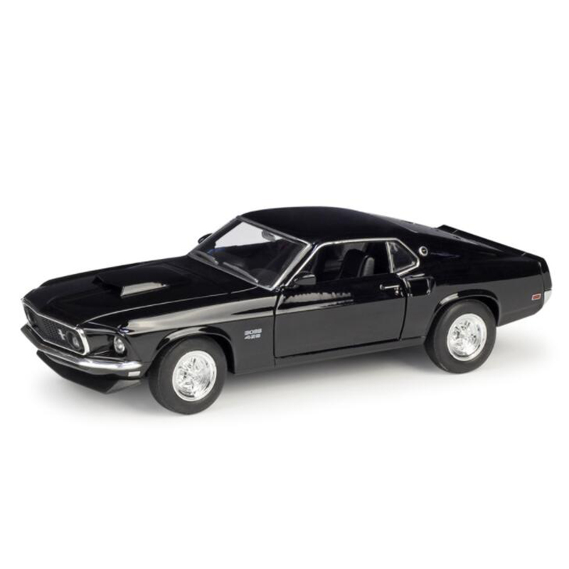 About 19CM 1/24 Scale Metal Alloy Classic Car Diecast Model 1969 Ford Mustang Boss 429 Toy Welly Collecection Toy For Kids Child