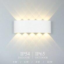 Lampe murale à LED nordique en aluminium mur led étanche, luminaire dextérieur, luminaire pour véranda, jardin, salle de bain, 4W/6W/8W/10W /12W