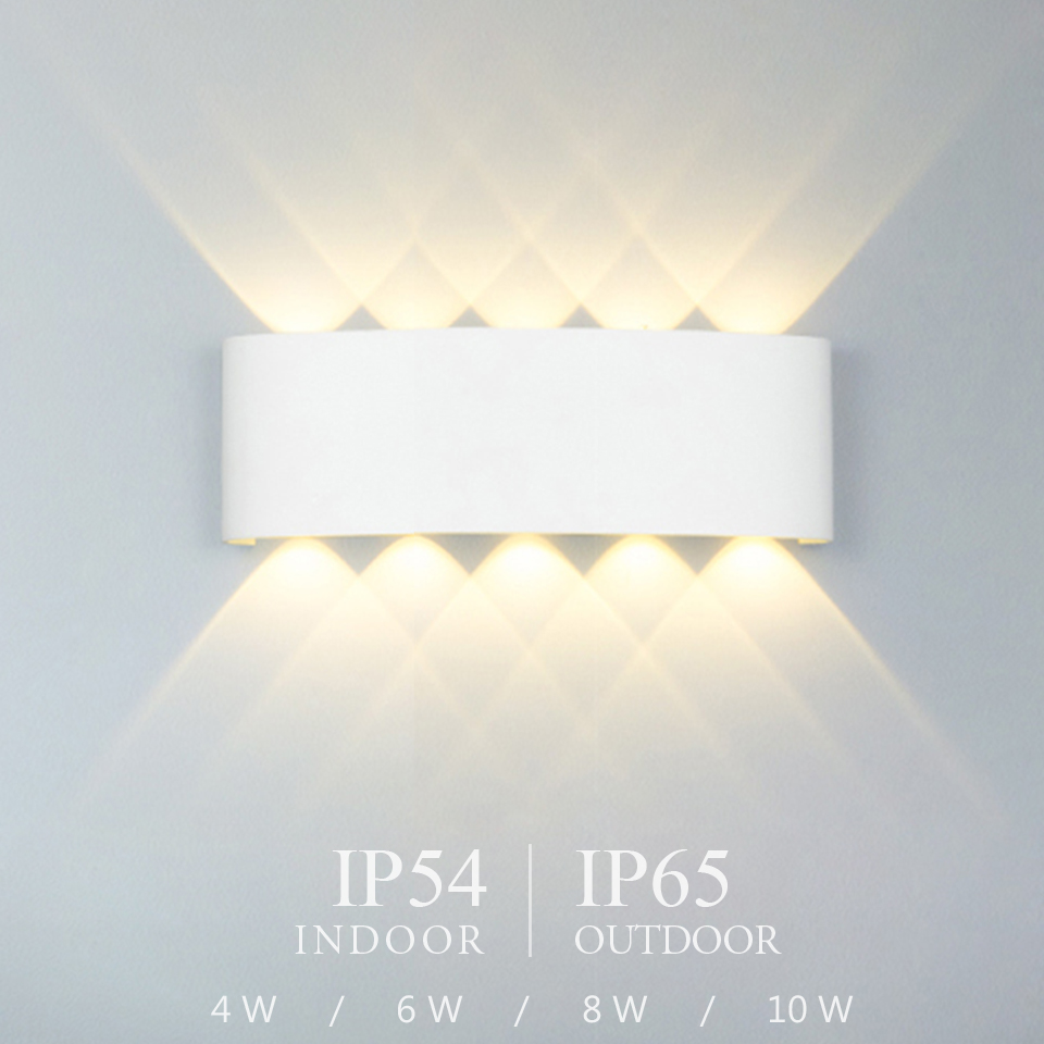 Nordic LED Wall Lamp Aluminum Waterproof Outdoor Wall Lights For Porch/ /Garden /Bathroom Light Led Luminaire 4W/6W/8W/10W /12W