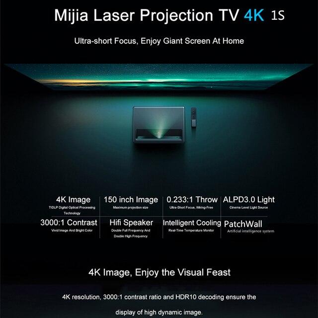 Projetor Xiaomi 1S 4k HD  3D HDR 2GB 16 Projeta 150 Polegadas HDMI 2