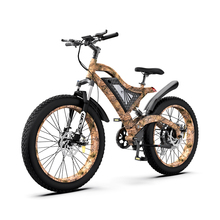 AOSTIRMOTOR Electric Mountain Bicycle 1500W 4.0 Fat Tire Ebike 48V 14Ah Removable Lithium Battery Beach City Cruiser bike