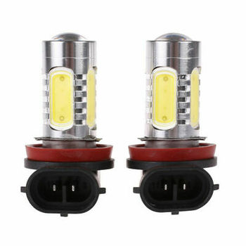 2X H11 LED Fog Light Bulbs For Toyota Tundra RAV4 Sienna Tacoma 2018 6000K LED Headlight Fog Light Bulbs COB Light image