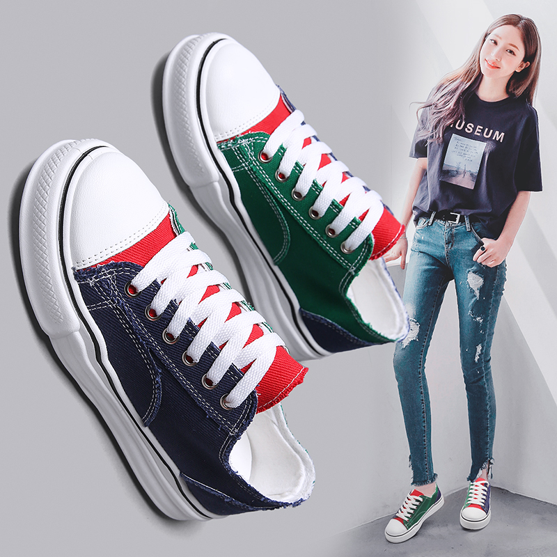 Women Canvas Vulcanized Shoes Casual Sneakers Woman Fashion Brand Leisure Spring Summer Shoes Female Footwears Zapatos De Mujer