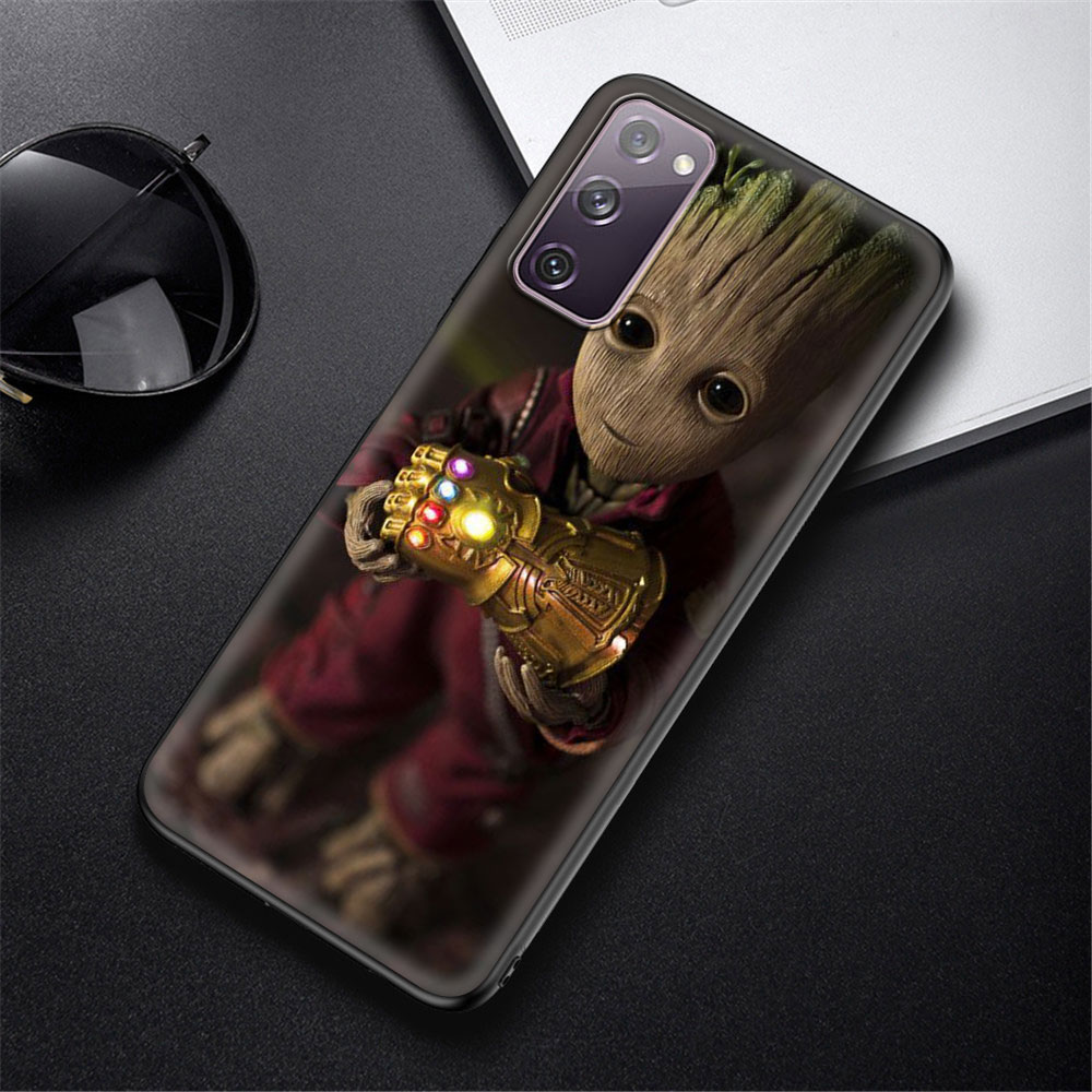 Cute Groot Soft Cover For Samsung Galaxy S21 S20 FE Note 20 Ultra S10 Lite S9 Plus S8 S10e TPU Cell Phone Case Coque