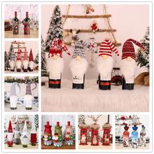 Dekoracje świąteczne pokrowiec na termofor ozdoby świąteczne na boże narodzenie w domu dekoracje stołu Natal prezenty wystrój nowego roku Navidad tanie tanio Bez pudełka new Year decoration kerst decoratie