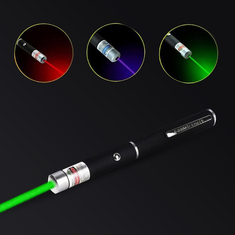 Laser Pointer Laser Light Pen Laser Sight 5MW High Power 3 Colors  Pointer Laser Super Radiation Laser Pen With 2 X AAA Battery