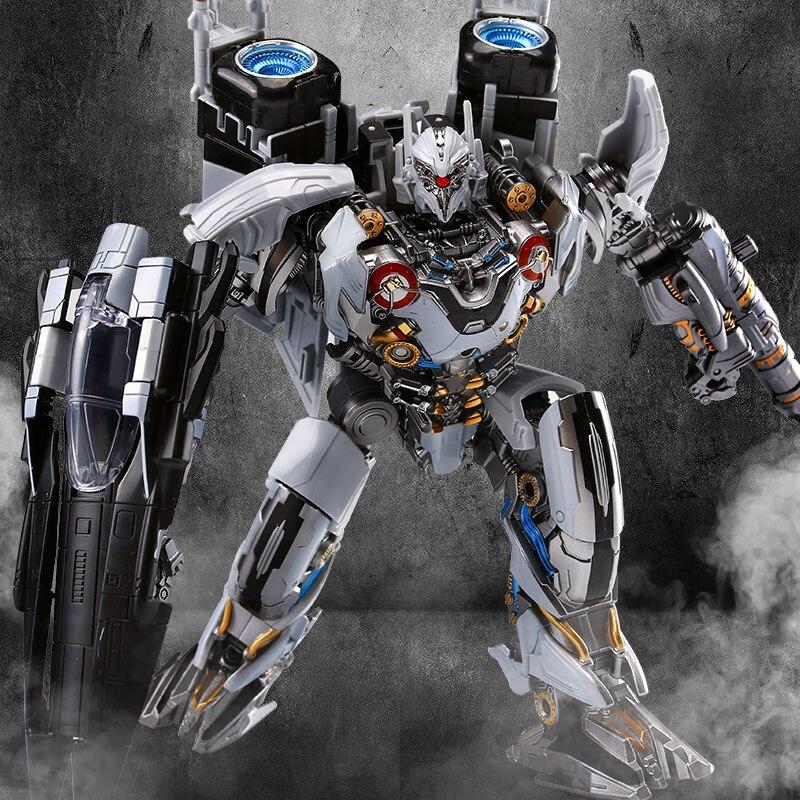 LS01 Movie Series Toys The Nitro Zeus Seibertron Robot Transformation Alloy Action Robot Kids Collectable Toys Birthdays Gifts