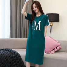 Cotton Material M-3xl  Plus Size Sleepwear Night Wear Nightgown 1311