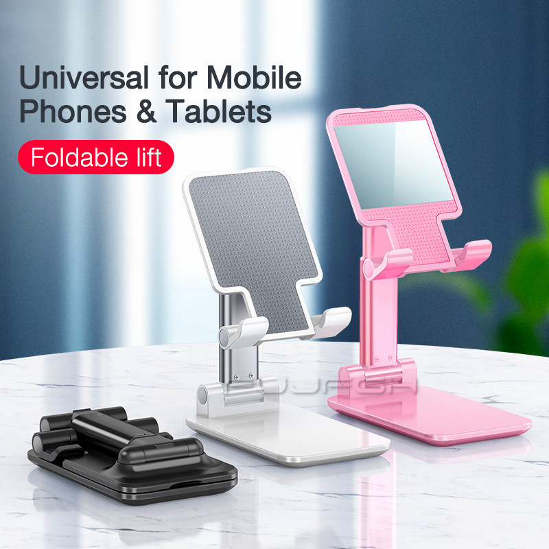 Multifunctional Metal Mobile Phone Desktop Stand Foldable Flat Stand Lazy Support Portable Adjustable Desktop Video Carrier image