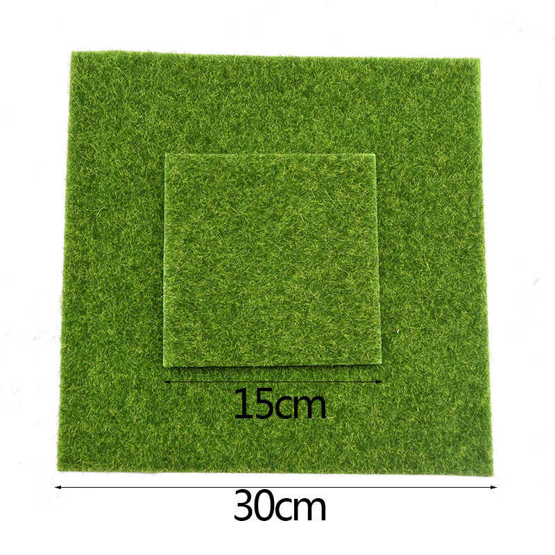 Artificial Moss Turf Lawns Green Plants DIY Micro Landscape Decoration Fake Grass Lawn for Home Mini Garden Floor Accessories