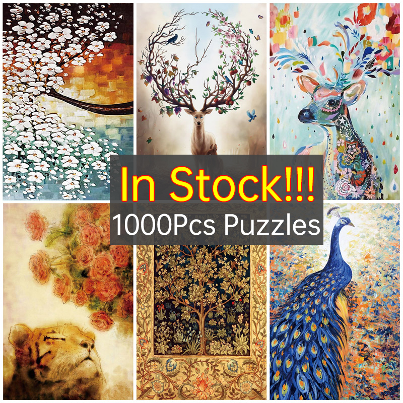 In Stock !!! Hot 1000 Pieces Jigsaw Puzzles Educational Wooden Toys Educational Wood Puzzle Toy For Kids Christmas Gift