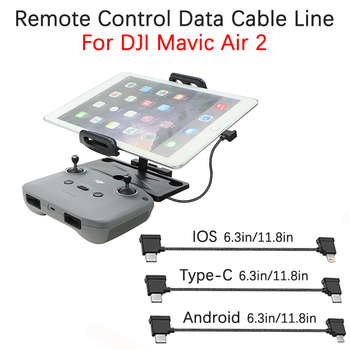 For DJI Mavic Air 2 Drone Remote Control Data Cable Line Phone Tablet Android Micro USB/Type-C/IOS Connection Wire Accessories image