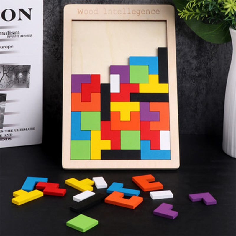 Puzzles Magic Tangram Children Wooden Educational Game Lol Hobby Child Jigsaw Tetris Cubes Puzzles Kids Toy Children Boys Girls