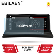 Qualcomm Auto Multimedia Voor Bmw X3 E83 Android 10.0 Autoradio Navigatie Gps Stereo Autoradio Ips 10.25