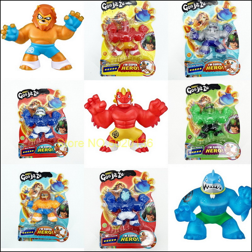 Goo Hero Jit Zu красочные сжимаемые игрушки Халк галактика крутая сжимаемая кукла LOLS медленно восстанавливающая форму игрушки для снятия стресса...