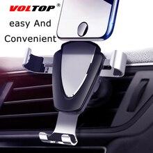 VOLTOP โลหะผสมแรงโน้มถ่วงผู้ถือโทรศัพท์อุปกรณ์เสริมสำหรับรถยนต์ Air Outlet Universal นำทางโทรศัพท์มือถือสนับสนุนอุปกรณ์อัตโนมัติ