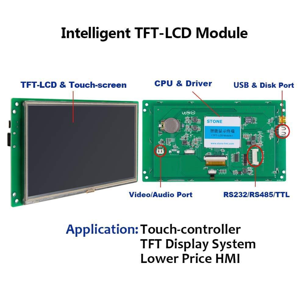 4,3 дюймовый HMI TFT ЖК дисплей сенсорный экран модуль ПОДДЕРЖКА Arduino/PIC/ARM/любой микроконтроллер - 2