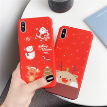 Moskado Luminous Phone Cases For iPhone 6 6S 7 8 Plus X XS Max XR Merry Christmas Hard Plastic Back Cover Shells