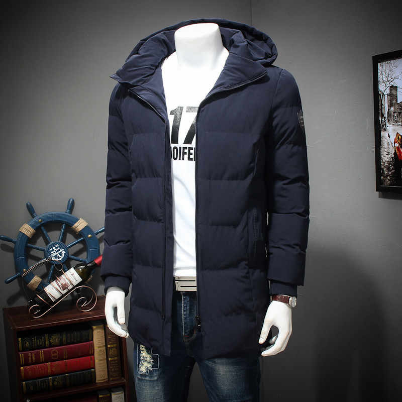 New Plus Ukuran Pria Musim Dingin Mantel Panjang Indah ARM POCKET Pria Solid Jaket Hangat Manset Desain Bernapas Jaket Kain 8XL 7XL