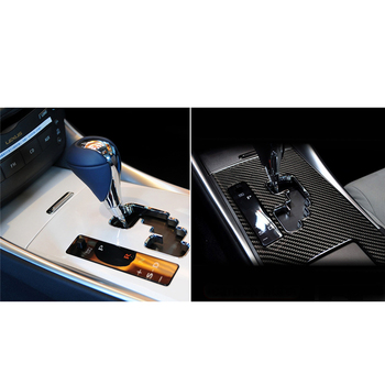 Car Carbon Fiber Sticker Interior Gear Shift Box Panel Trim Cover Car Styling Decals Stickers For LEXUS IS250 300 350 2006-2012