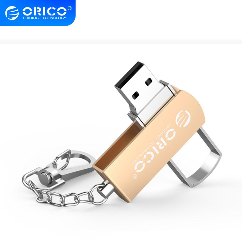ORICO U Disk USB 2.0 Flash Drive 64GB 32GB 16GB USB Pendrive Zinc Alloy with Key Ring Support For Mobile Phone Computer(China)