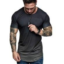 Camiseta de verano a la moda para hombre, estampado antiguo, manga corta, cuello redondo, color degradado, ajustada