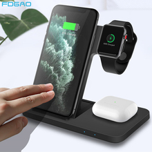 Qi 3 in 1 Wireless Charging Station For iPhone 12 11 XS XR X 8 AirPods Pro iWatch 15W Qi Fast Charger for Apple Watch SE 6 5 4 3