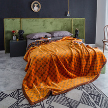 Vintage suave largo peludo cálido franela mantas Otoño Invierno sábana colcha sofá cama manta de viaje de terciopelo sofá CoverLA464