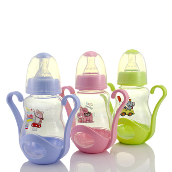 160ml Cute Baby bottle Infant Newborn Children Learn Feeding Drinking Handle Bottle Kids Straw Juice Water Bottles Training Cup new arrival feeding bottles cups for babies kids water milk bottle soft mouth duckbill sippy baby feeding bottle infant training