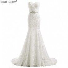 Real Photo Lace White Ivory Mermaid Bride Eightale Wedding Dresses Up