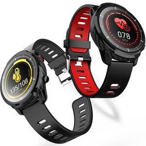 Image 5 - الرجال ساعة ذكية L5 S10 زائد L3 IP67 مقاوم للماء شاشة تعمل باللمس كامل طويل الاستعداد Smartwatch معدل ضربات القلب الطقس PK الشرف