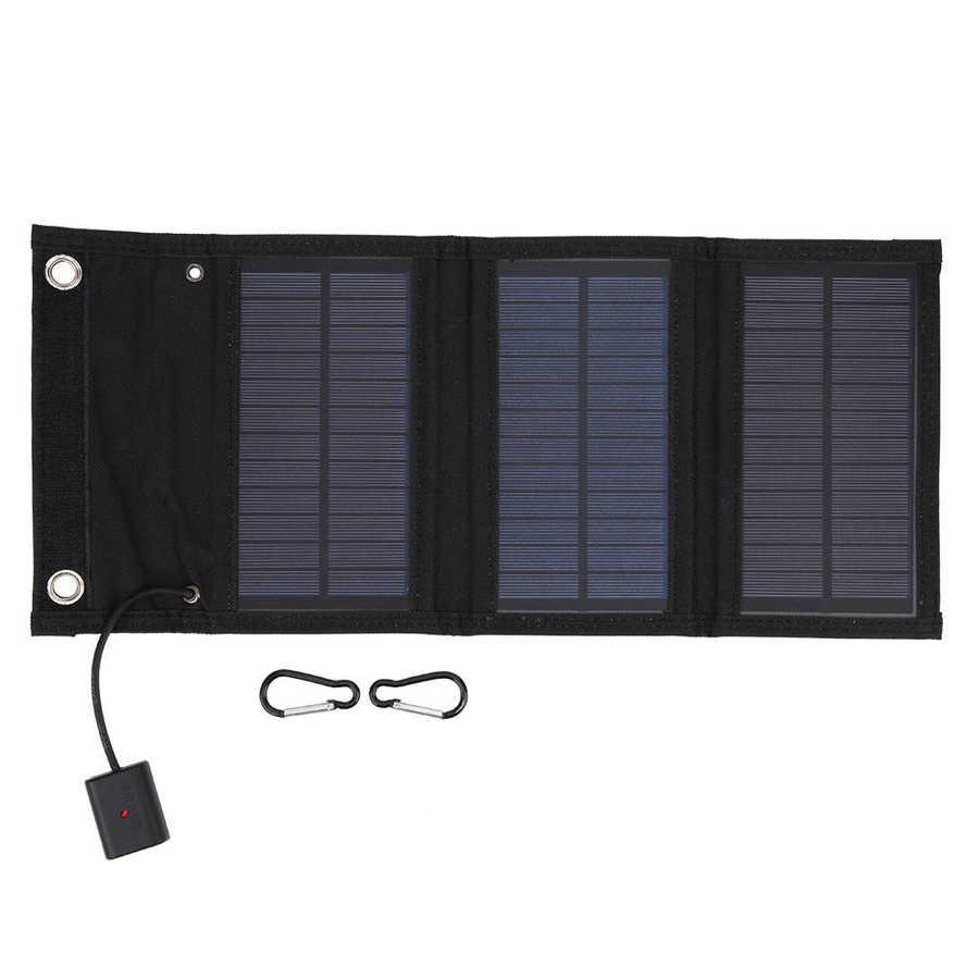 pacote de 15w portatil painel solar dobravel painel de energia solar para o turismo e caminhadas