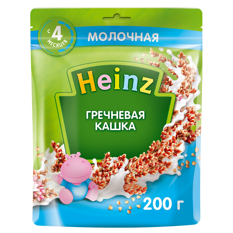 Каша молочная Heinz гречневая 200г с 4 месяцев