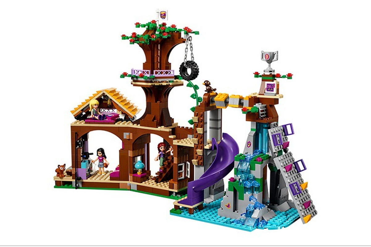 <font><b>10497</b></font> Blocks Compatible with Legoinglys Friends Adventure Camp Tree House Emma Mia Figure Model Building Toys Children image