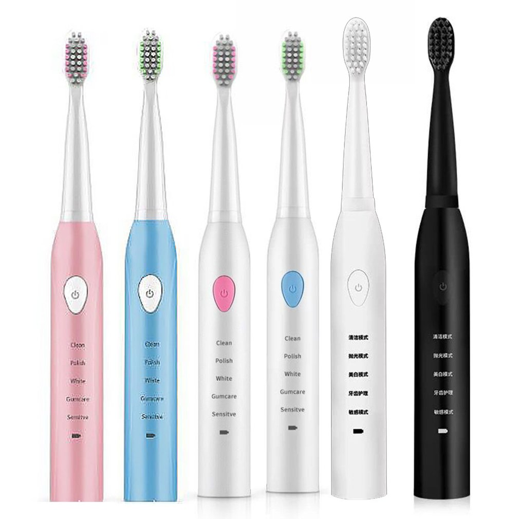 Electric Toothbrush Adult Rechargeable Toothbrush Sonic Automatic Soft Toothbrush Waterproof Usb Charging