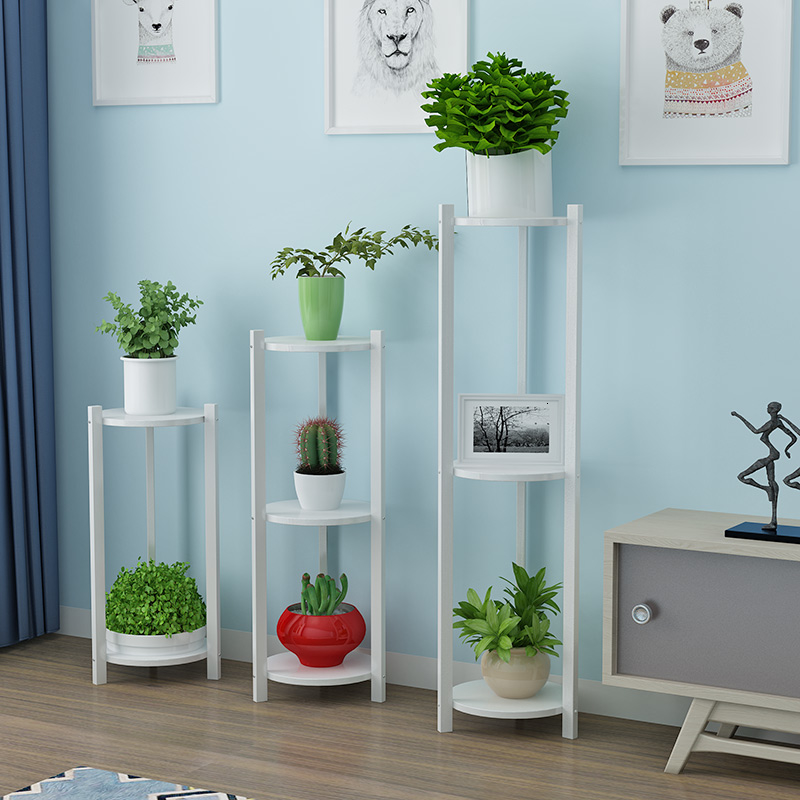 Flower Airs Solid Wood Multi-storey Indoor Assemble To Ground Noodles A Living Room Flowerpot Frame Green Luo Household Shelf