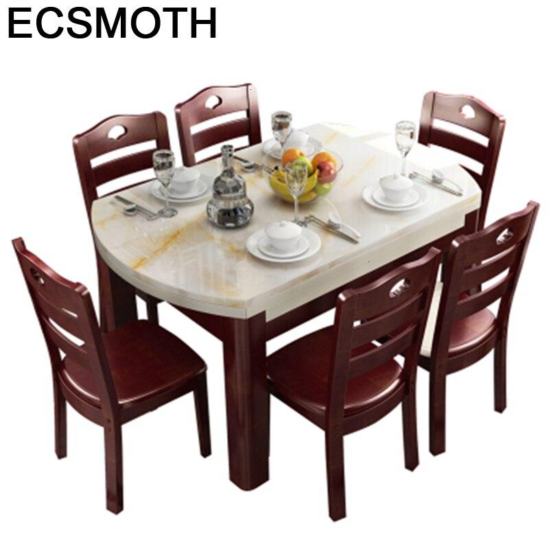 Eet Marmol Dinning Tavolo Comedores Mueble Eettafel Set Tisch Juego Tafel Wooden Comedor Mesa De Jantar Desk Bureau Dining Table