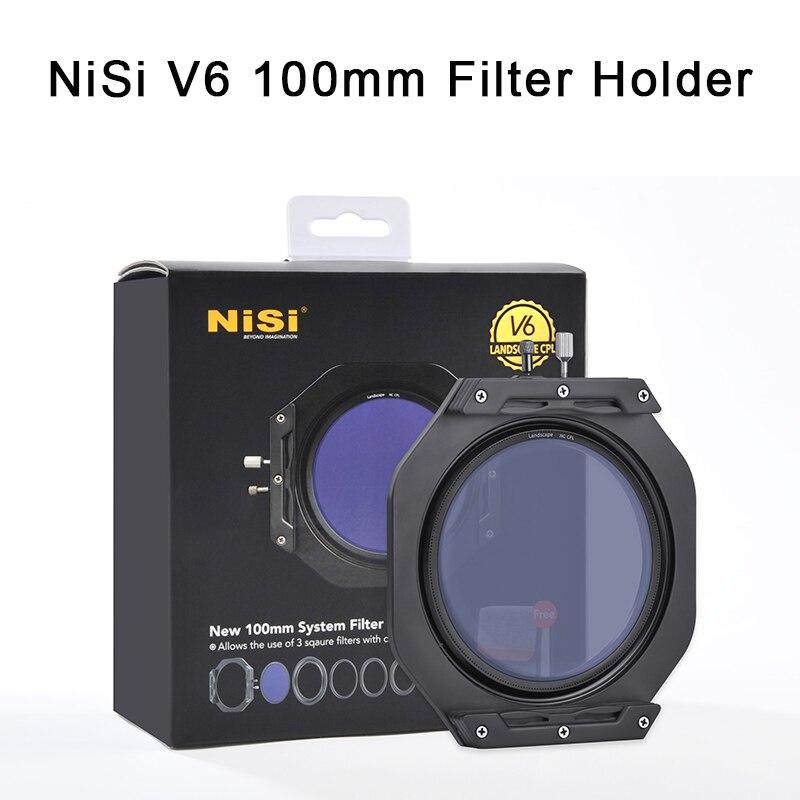 NiSi V6 100 мм держатель фильтра с усиленной крышкой e CPL и переходным кольцом крышка объектива квадратный держатель фильтров для камеры Canon Nikon