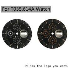 36.3mm שעון חיוג ידיים מקרה מתאים T035614A איש של מכאני שעון טקסט באבזרי שעון 7750 תנועה תיקון חלקי