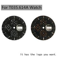 36.3mm zegarek dial hands case nadaje się do T035614A męski zegarek mechaniczny zegarek tekstowy akcesoria do 7750 części do naprawy ruchu