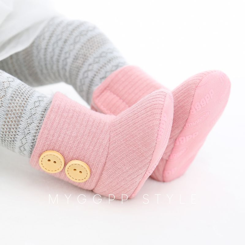 Shoes First-Walkers Newborn Baby-Girl Boots Soft-Sole Non-Slip Knitting Autumn Cotton