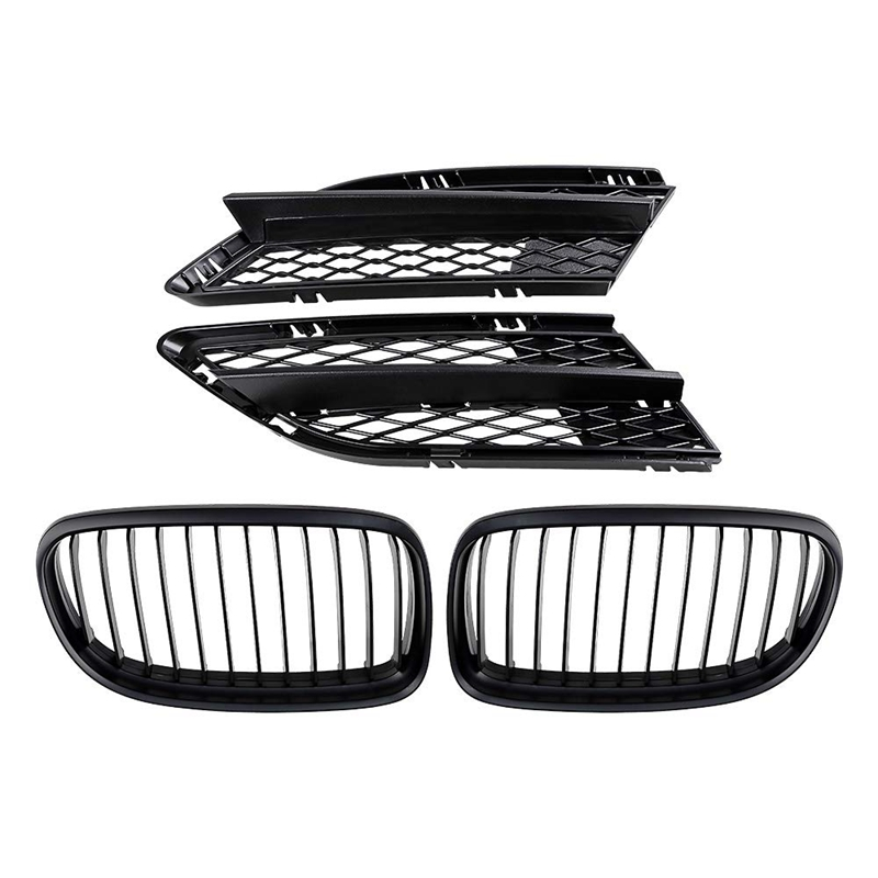Front Center Kidney Grilles Grill Fog Lamp Lower Bumper Mesh Grille Compatible with 2009 2011 for BMW E90 E91 323I 325I 328I 330|Racing Grills|   - title=