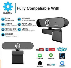 Webcam Hdweb-Camera with Built-In Dual-Microphone 1920x1080p Usb-Plug N-Play 10pcs Live-Stream