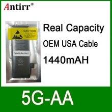10pcs/lot Real Capacity China Protection board 1440mAh 3.7V Battery for iPhone 5G zero cycle replacement repair parts 5G-AA