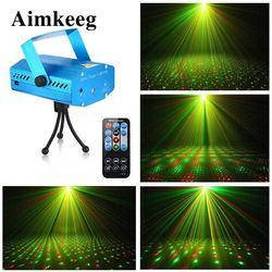 Mini Laser led światło dyskotekowe profesjonalne światła sceniczne dla dj'a aktywacja dźwięku projektor laserowy świąteczne dekoracje światło laserowe w Oświetlenie sceniczne od Lampy i oświetlenie na