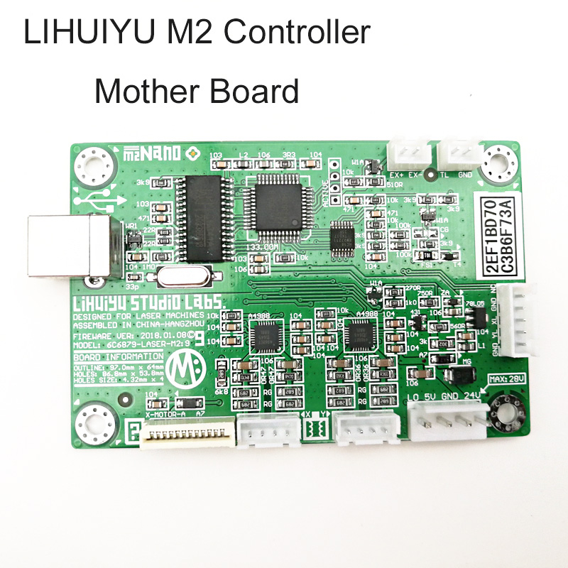 1pc LIHUIYU M2 Nano Laser Controller Mother Main Board System For Co2 Engraving Cutting Machine 3020 4030 6040 Engraver Cutter