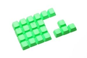 Image 5 - Taihao Rubber Gaming Keycap Set Rubberen Doubleshot Cherry Mx Oem Profiel 22 Sleutel Magenta Paars Neon Groen Geel Licht Blauw