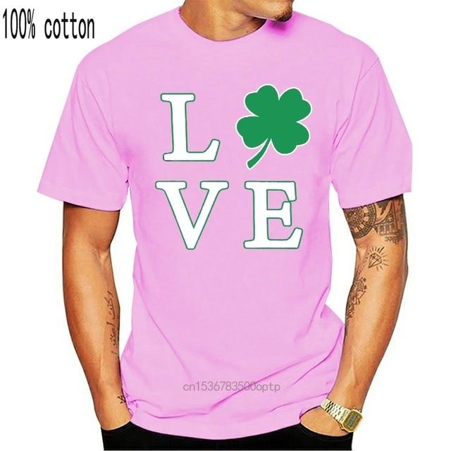 Love Clover Saint Patricks Day Four Leaf Clover  Short Sleeve Mens T-Shirt 1