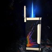Ультратонкая металлическая зажигалка из чистой латуни газовая